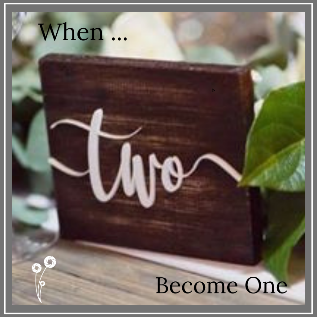 Ellie & Hart - Two become one wooden table number sign