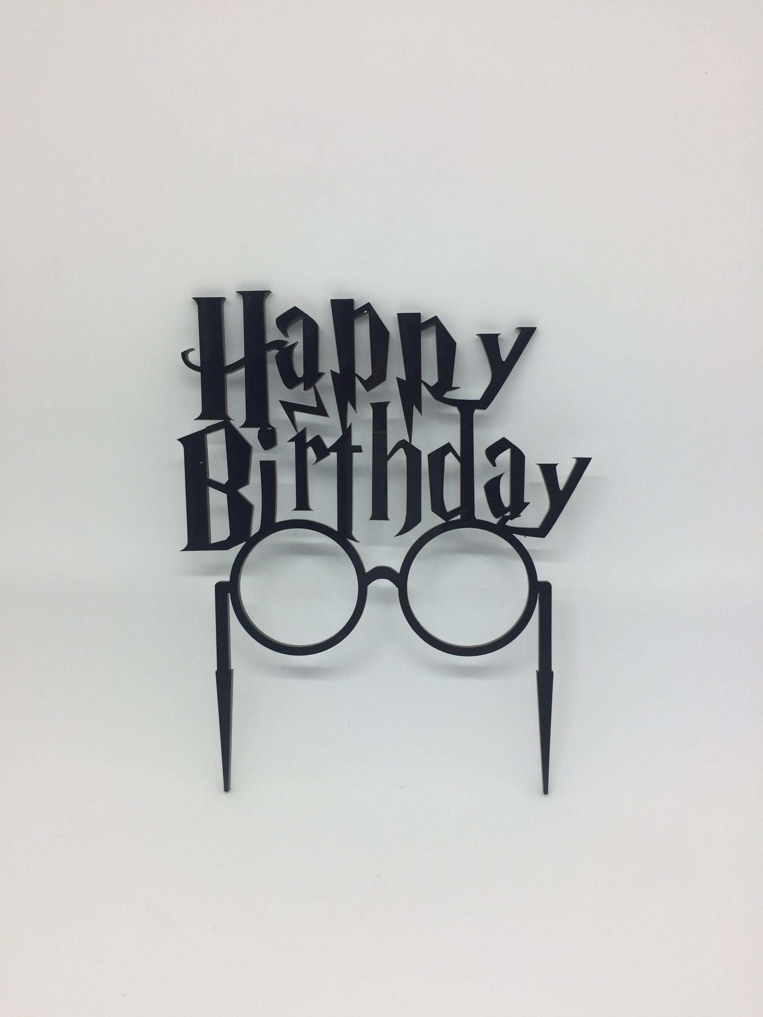 Cake topper - acrylic cake topper - harry potter - birthday cake topper