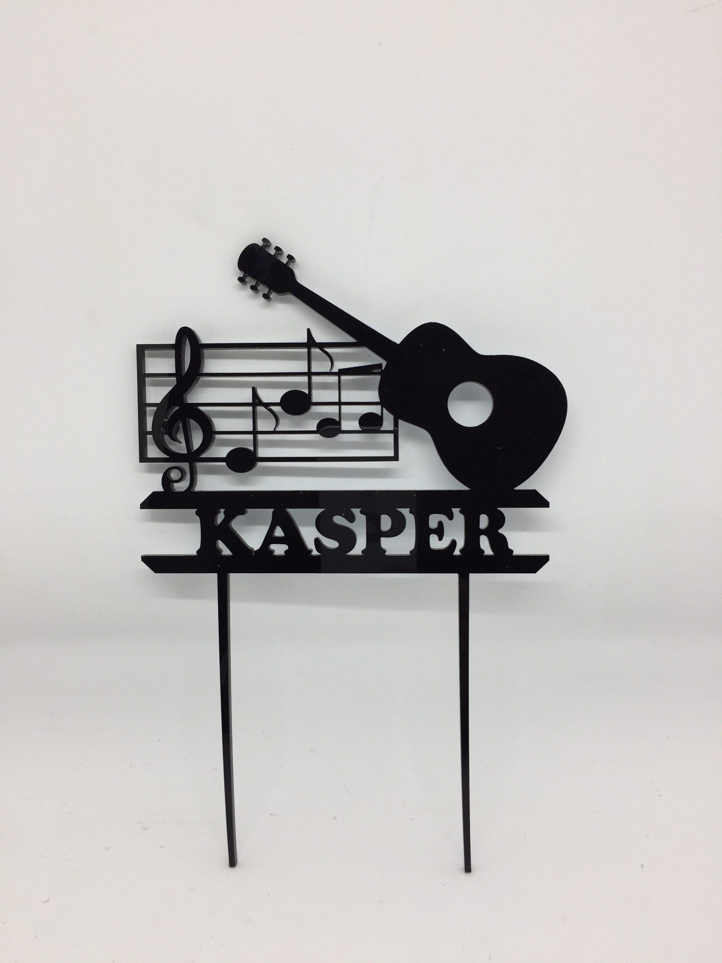 Cake topper - acrylic cake topper - musical - birthday cake topper