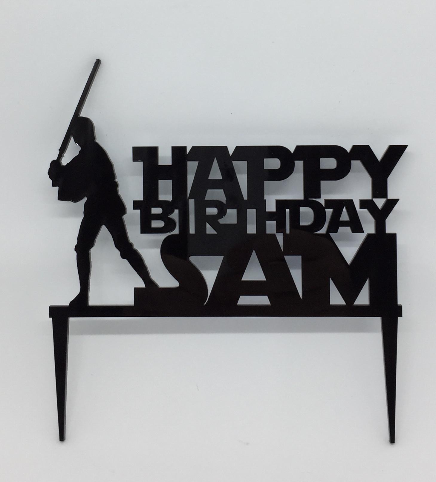 Cake topper - acrylic cake topper - star wars - luke syywalker - birthday cake topper