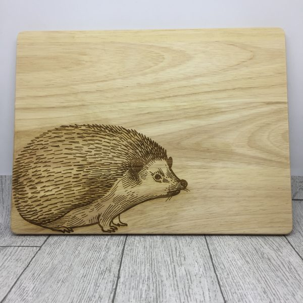 Ellie and Hart - Laser engraved chopping board - engraved hedgehog