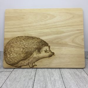 Wooden Chopping Board with engraved Hedgehog
