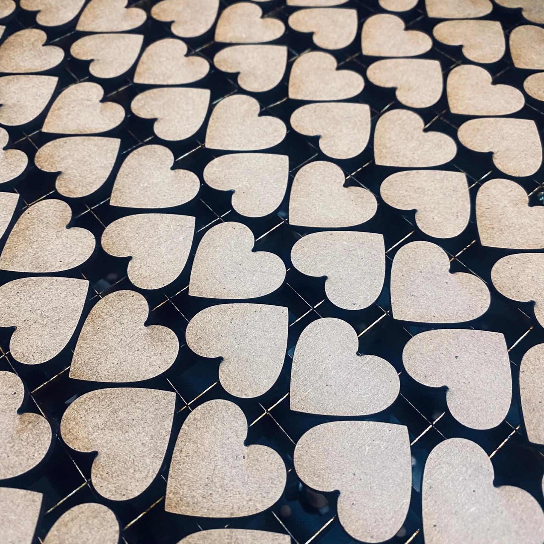 laser cut mdf hearts
