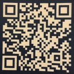 QR code laser engraved on to layered acrylic by the altered state