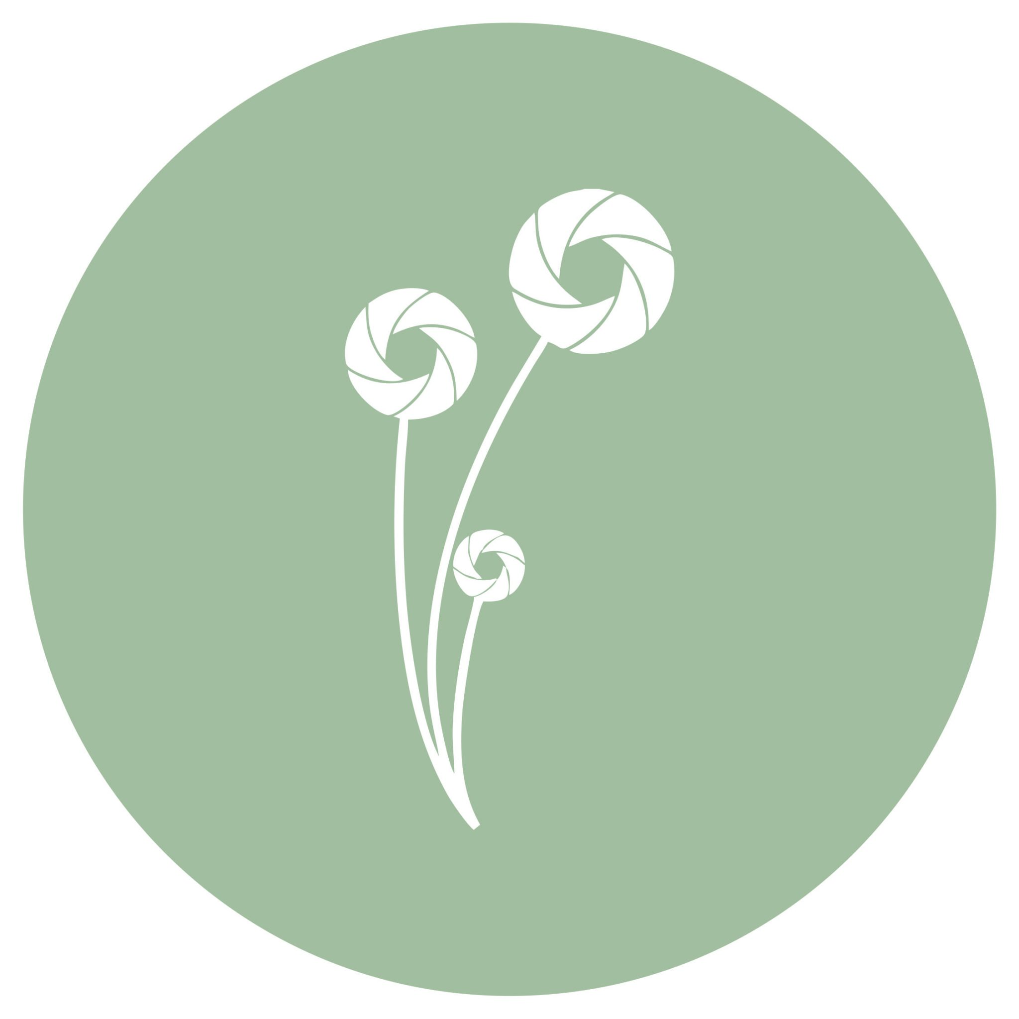 ellie & hart flower logo in pastel green