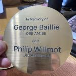 memorial plaque in gold layered acrylic laser engraved by the altered state