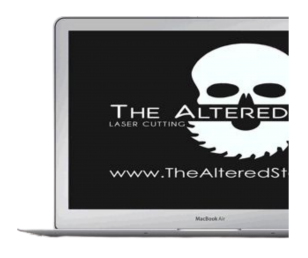 The Altered State - Half laptop with skull saw